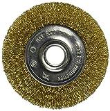 Vermont American 16796 3-Inch Fine Brass Wire Wheel Brush for 1/2-Inch arbor