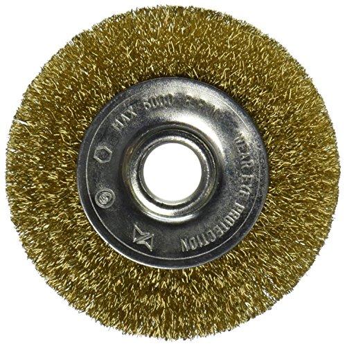 Vermont American 16796 3-Inch Fine Brass Wire Wheel Brush for 1/2-Inch arbor ()