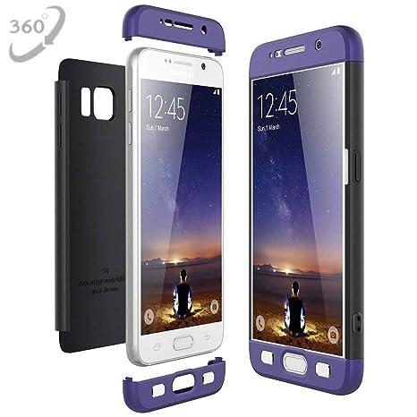 Compatible Funda Samsung Galaxy S6, Ultra-Delgado 360 Grados Protective Carcasa [Ligera] Anti-rasguños Estuche PC Hard Skin Case Cover 3 en 1 ...