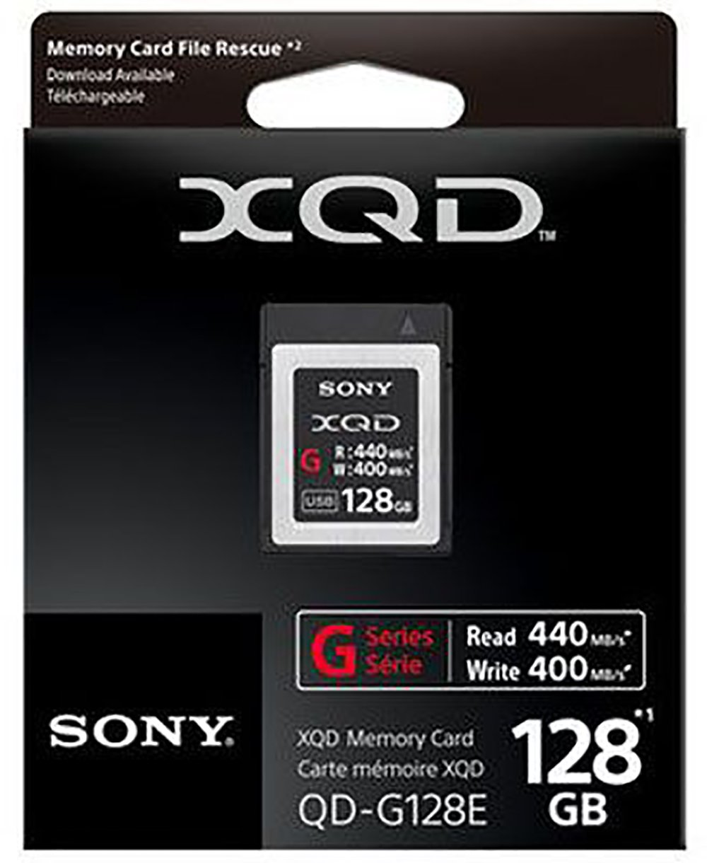 Carte Xqd 128 Go.Sony 128gb Xqd Flash Memory Card G Series Read 440mb S And Write