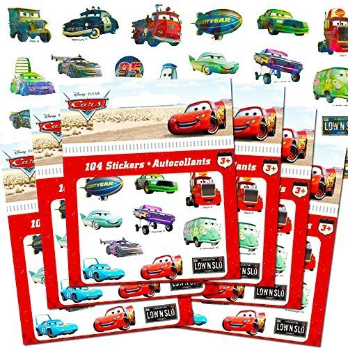 Disney Cars Stickers Party Favor Pack (624 (Disney Cars Stickers)