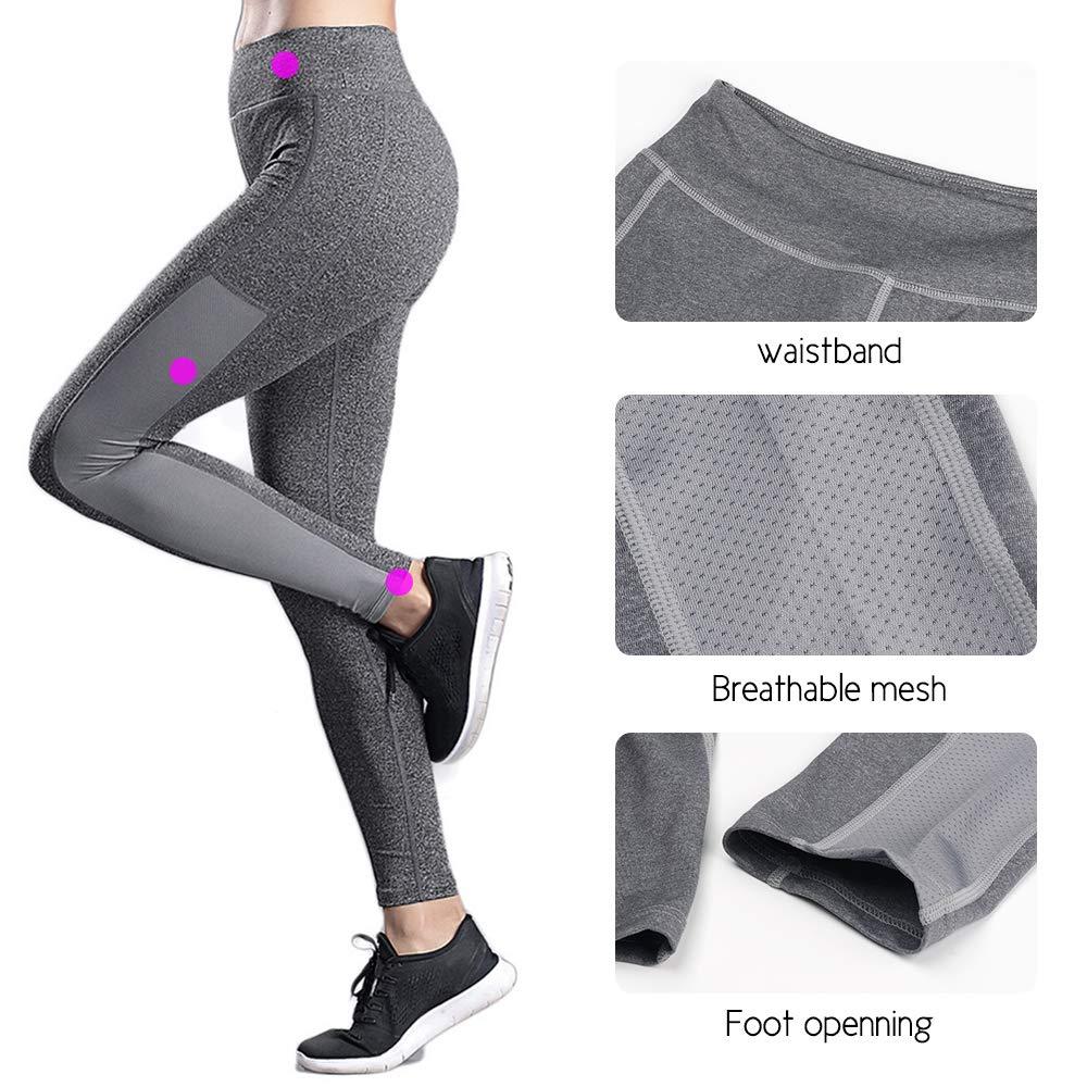 SPFAS Pantalons de Course Femme Leggings de Sport pour Running and Fitness
