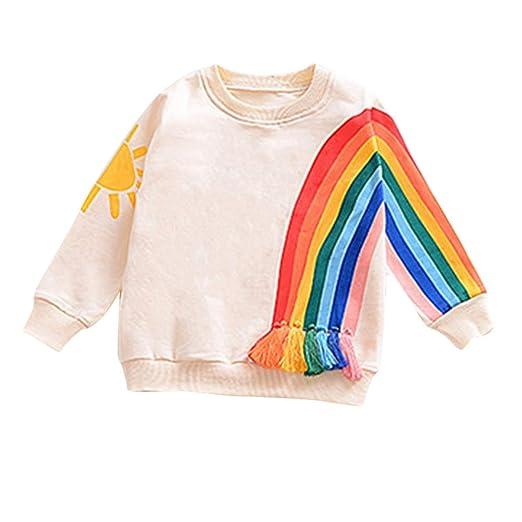 e998c0677c5ebb KONFA Toddler Newborn Baby Boys Girls Rainbow Cardigan Sweater