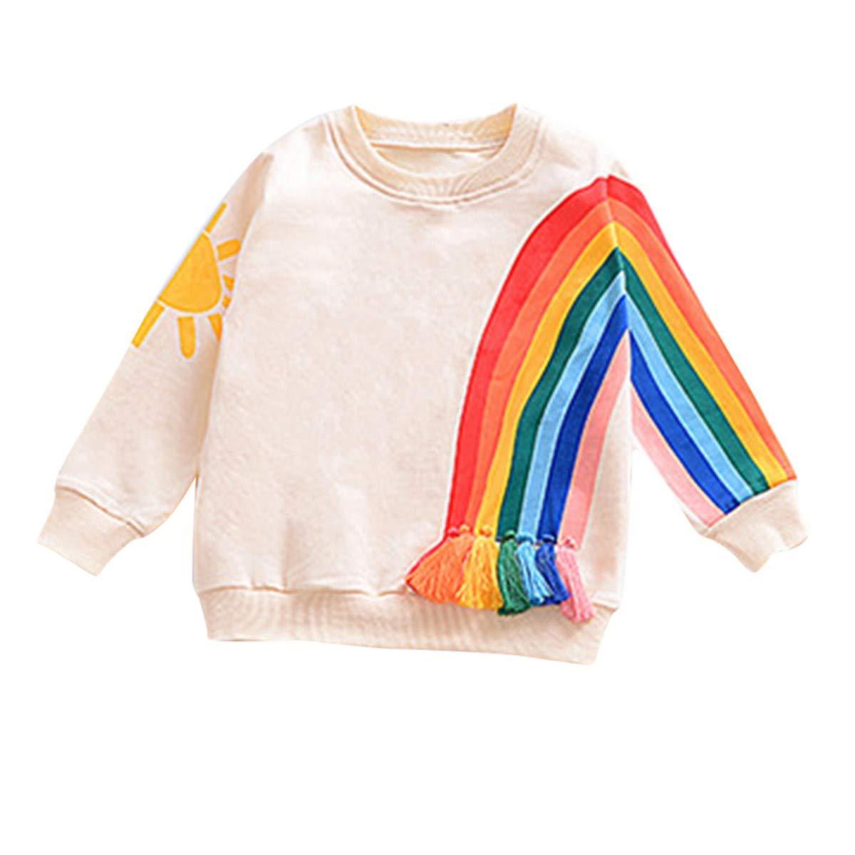 871bc42b4de KONFA Toddler Newborn Baby Boys Girls Rainbow Cardigan Sweater ...