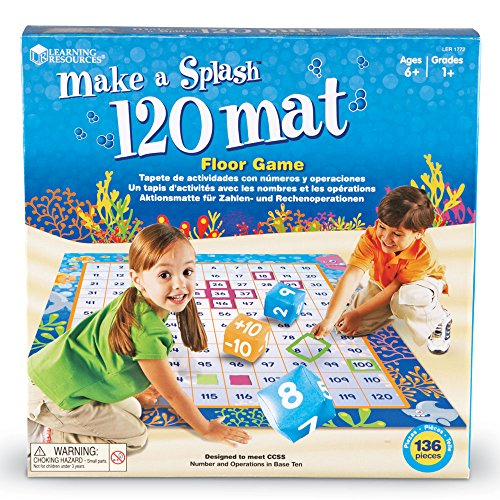 61AdX fu4XL - Learning Resources Make a Splash 120 Mat Floor Game, 136 Pieces
