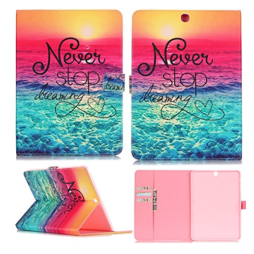 Galaxy Tab S2 9.7 T815 Case,XYX [Never Stop Dearm] PU Lea...