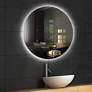 DENVER Illuminated Led bathroom mirror SwitchesMake-upDemister pad