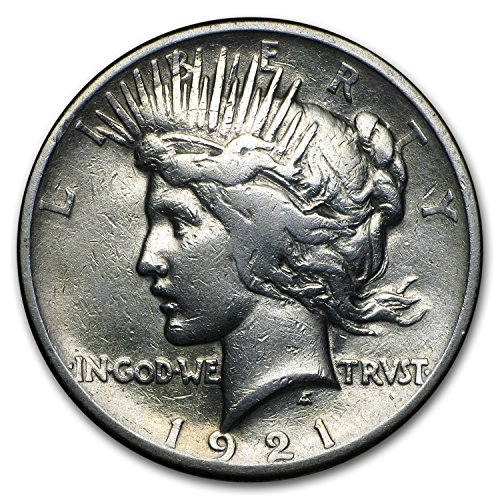 1921 Peace Dollar VG/VF Details (High Relief, Dmgd) $1 Very Fine