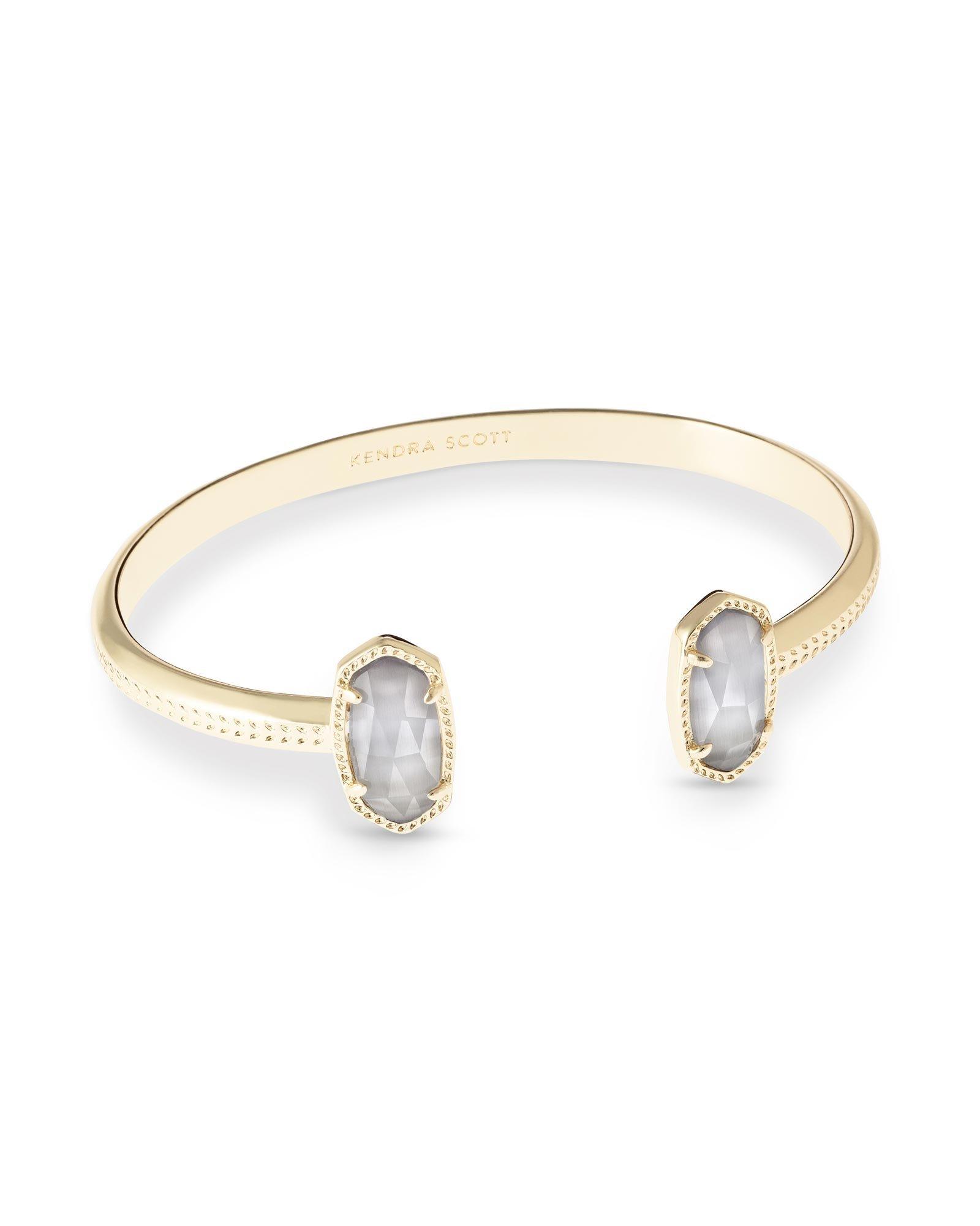 Kendra Scott Elton Gold Bracelet In Slate Glass