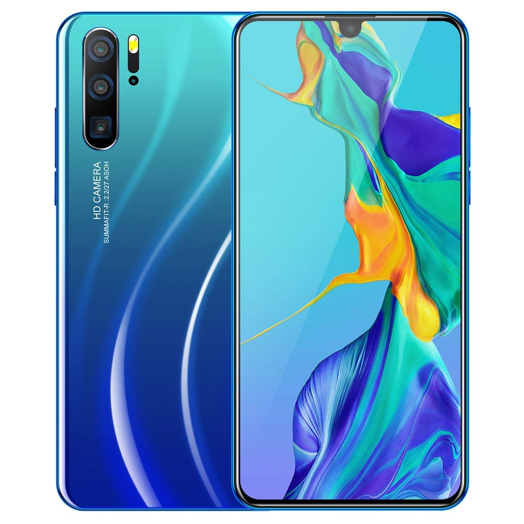 6.3 inch Android 9.1 Ten Core 3G Unlocked Smartphone 4800Mah Battery,Dual SIM,1G RAM+16GB ROM Dual HD Camera Cell Phone (Blue) by PaJau-Electric Product