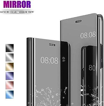 NUONA Luxury Mirror Smart Case,Clear View Mirror Flip Hard Back ...