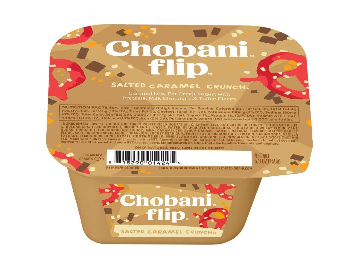 Chobani Flip Salted Caramel Crunch Greek Yogurt, 5.3 Ounce -- 12 per case.