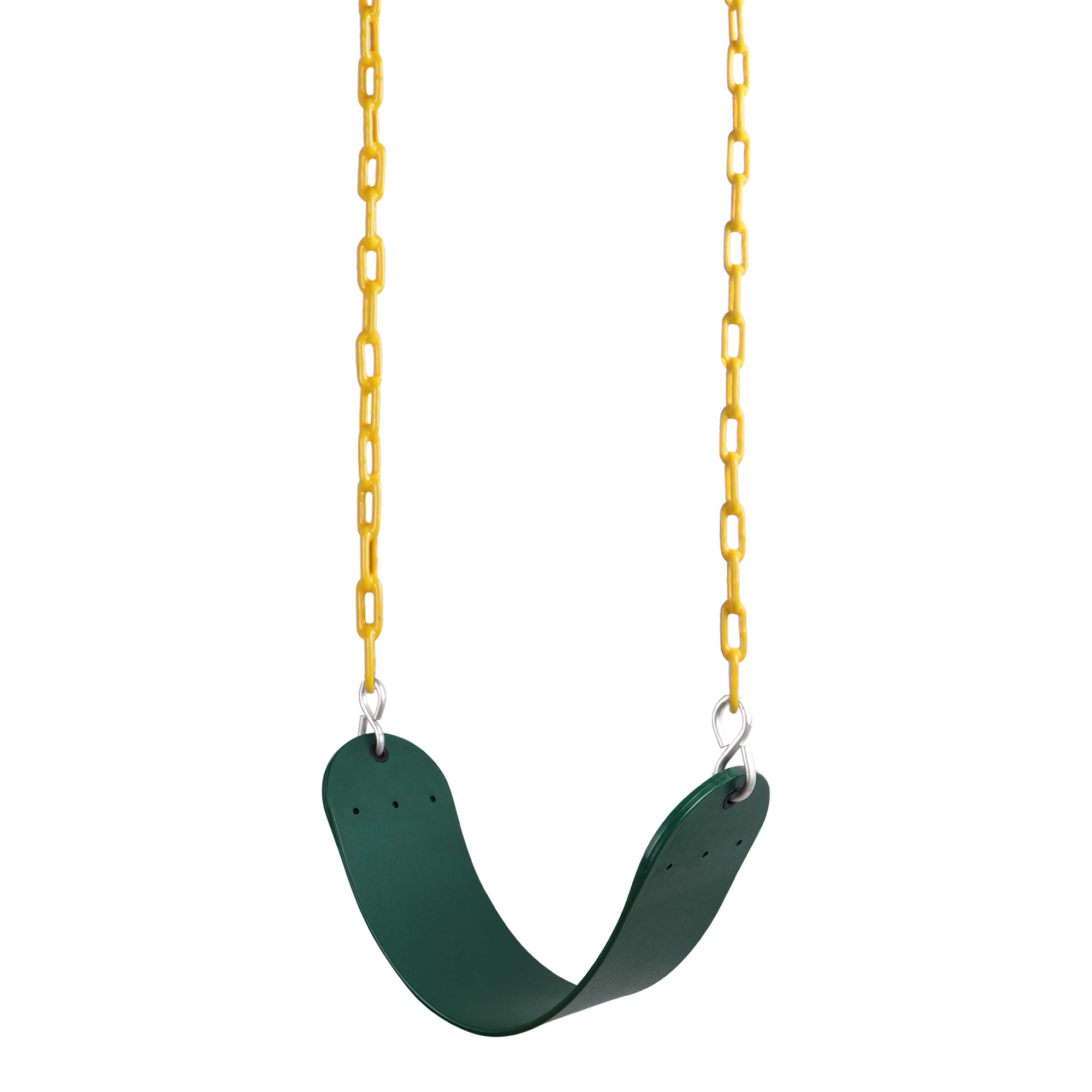 REEHUT Swing Seat Heavy Duty with 66'' Chain Plastic Coated, Swing Set Accessories Swing Seat Replacement, 250 LB Weight Limit (Green) by REEHUT