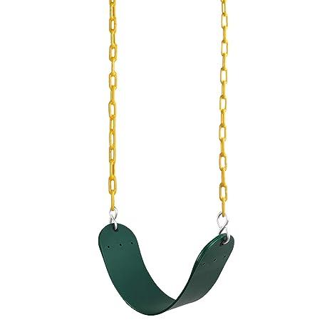 "Reehut Swing Seat Heavy Duty With 66/"" Chain Plastic Coated Swing Set Accessorie"