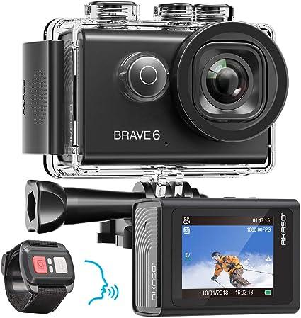 Amazon.com: AKASO Brave 6 4 K 20 MP WiFi Cámara de acción ...