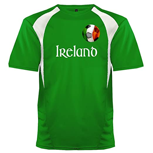 f932e620c Custom Ireland Soccer Ball 1 Jersey Adult 2X-Large in Kelly Green and White