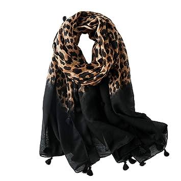 nuovo di zecca Miglior prezzo moderno ed elegante nella moda MoGist - Sciarpa Estiva da Donna, con Nappine Nere, Stampa ...