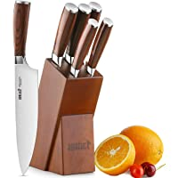 Knife Set,6-Piece Kitchen Knife Set with Wooden Block Germany High Carbon Stainless Steel Knife Block Set,Chef Knife Set…