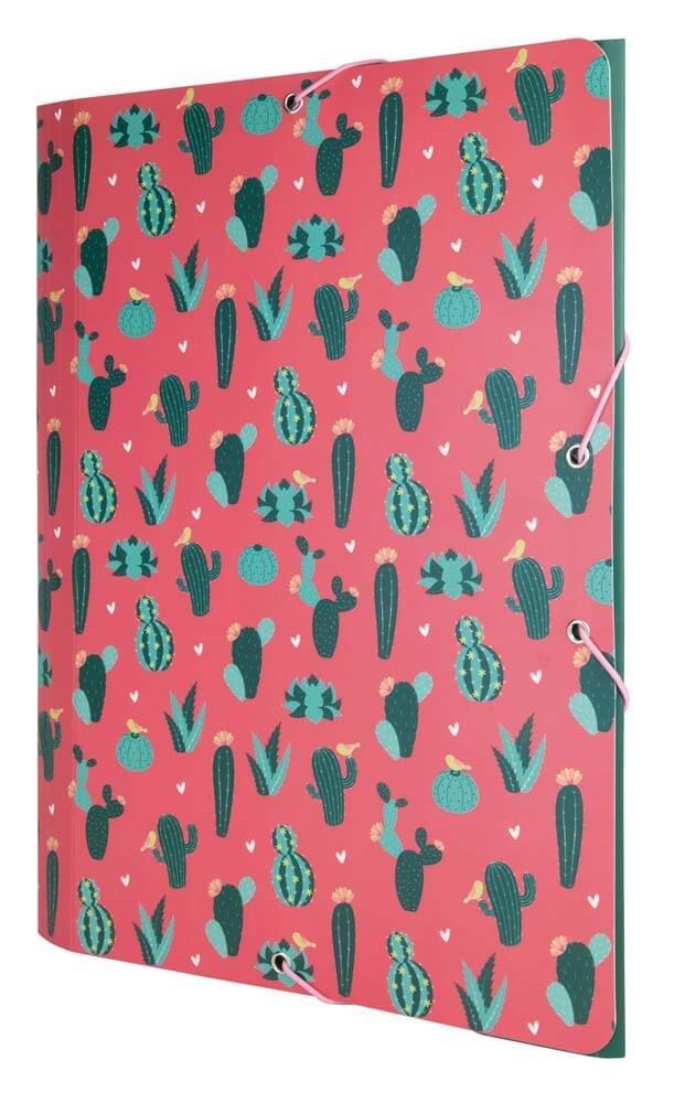 Carpeta Milan Cactus Tres Solapas
