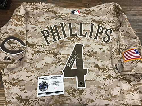 Brandon Phillips Autographed Signed Authentic Rare CAMO Reds Jersey Hologram & COA (Camo Rare)