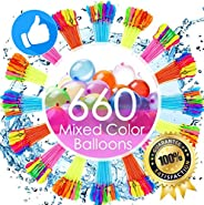 Studio 21 Graphix Water Balloons for Kids Girls Boys Balloons Set Party Games Quick Fill 660 Balloons 18 Bunch