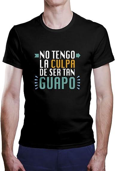 """OKAPY Camiseta Original de Hombre. Una Camiseta Negra con """"No ..."""