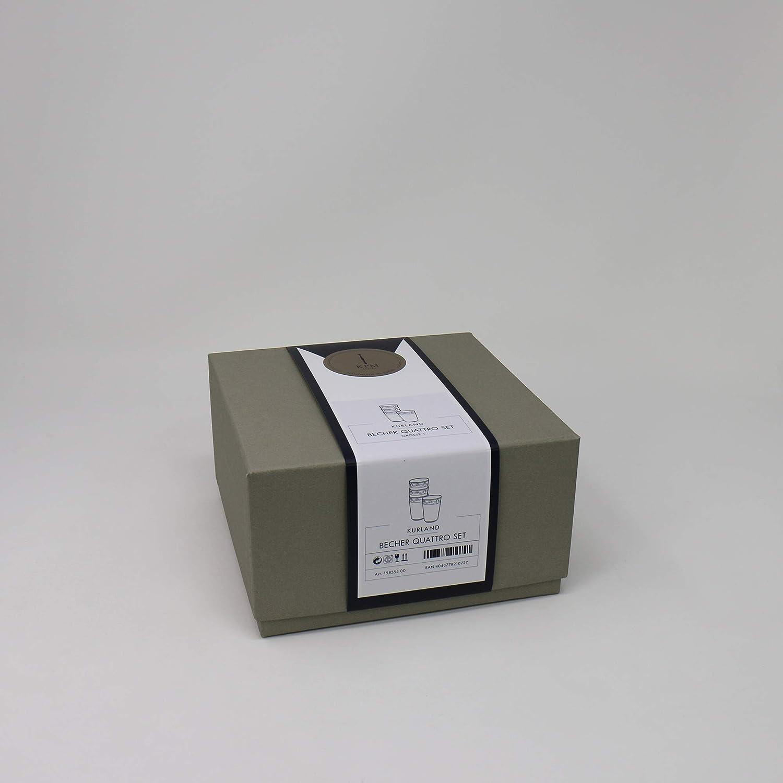 KPM Berlin KURLAND Becher Mini Quattro-Set 4-teilig in Geschenkverpackung Wei/ß Porzellan