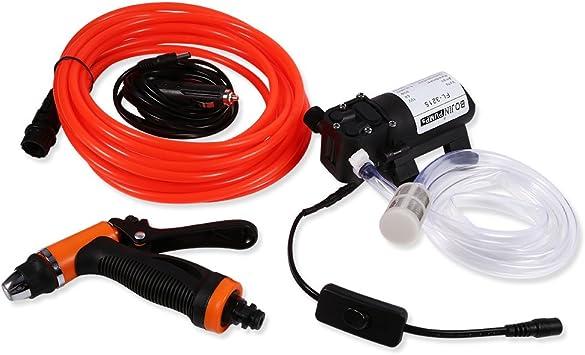 12V Portable 80W 130 PSI High Pressure Car Electric Washer Hose Wash Pump Kit US