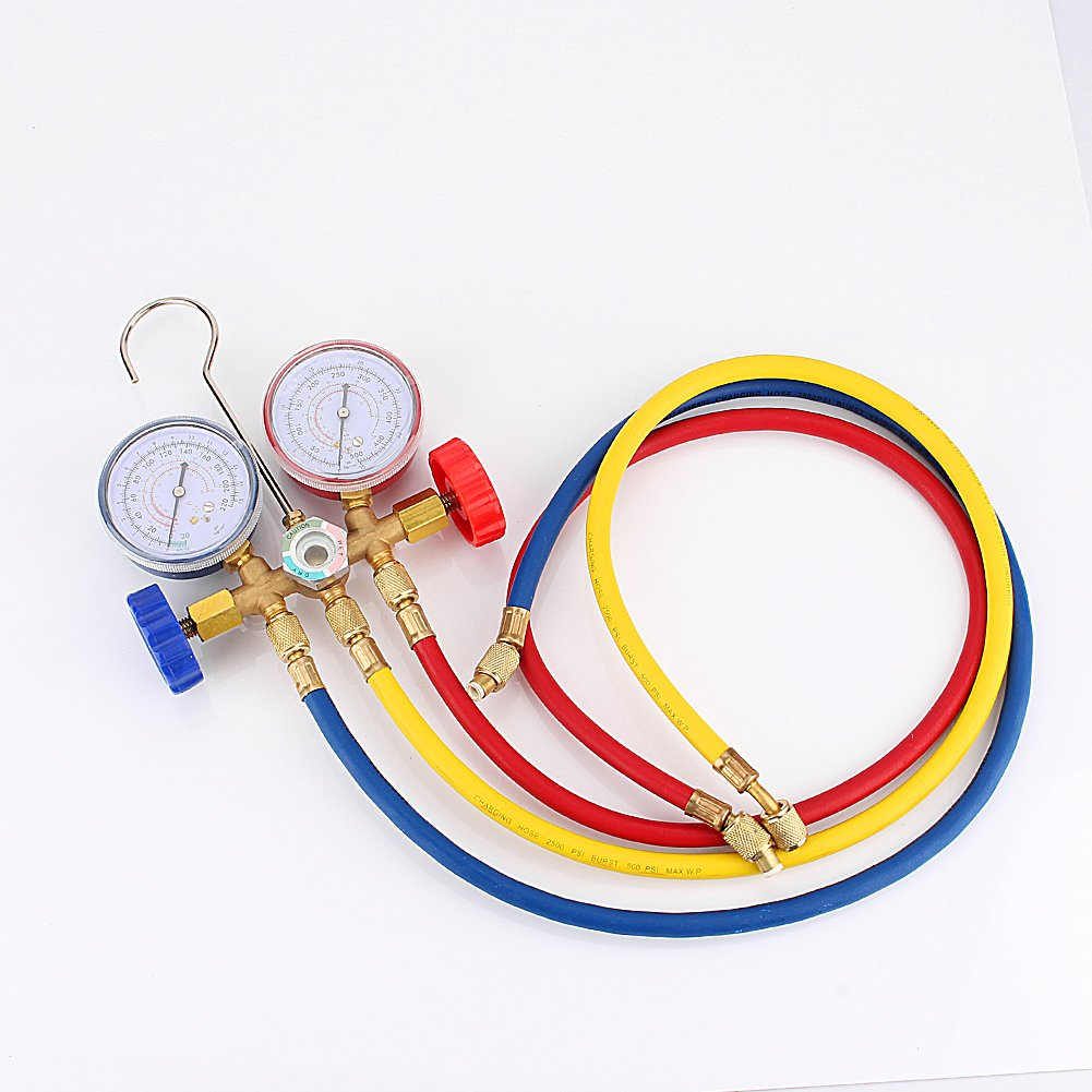 R12 R22 Refrigeration Air Conditioning AC Diagnostic Manifold Gauge Tool Set