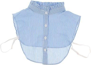 perfeclan Cuello Falso de Algodón Mitad Camisa Desmontable ...