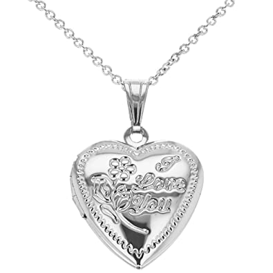In Season Jewelry Gold Tone Heart Photo Locket Necklace Pendant Memory Love Remembrance 19