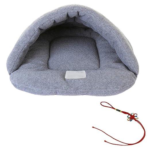 Cama de mascota cálida y cómoda, con forma de saco de dormir, de lujo, para perros, gatos y conejos: Amazon.es: Productos para mascotas