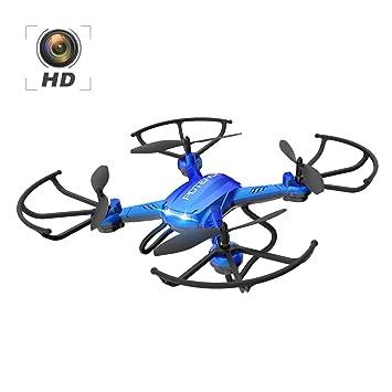 Potensic Dron con Telecámara, F181H WiFi FPV 2.4Ghz Hover Dron, 4 ...