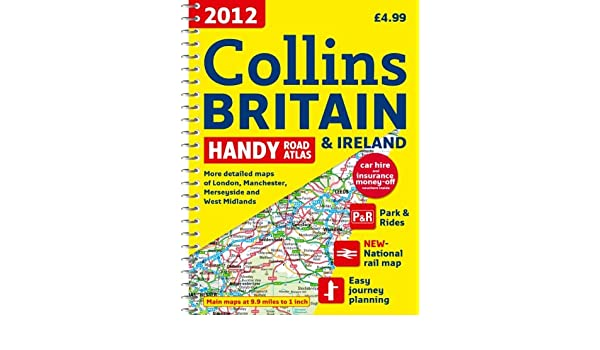Map Of Ireland 600 Ad.2012 Collins Britain Ireland Handy Road Atlas International Road