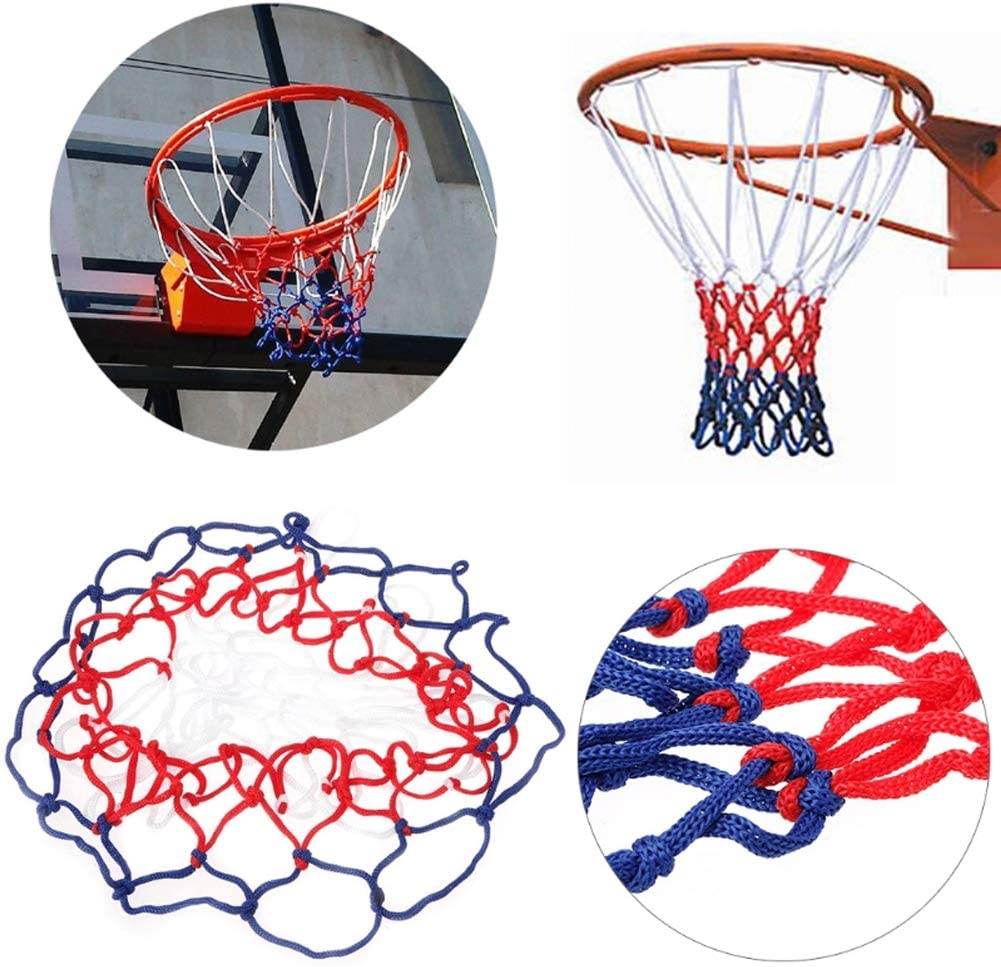 1 Pack,White And Red 12 Loops Basketball Net Basketball Net All-Weather Heavy Duty Outdoor Thick Replacement Net 20 Inch Tonquu Basketball Net Basketball Net