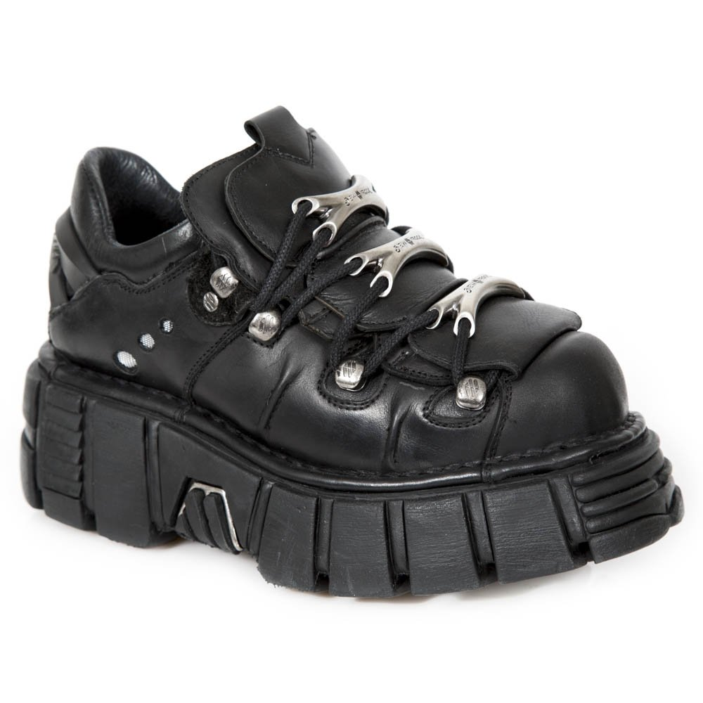 New Rock M.120-s1, Zapatillas Unisex Adulto 44 EU|Negro (Negro 001)
