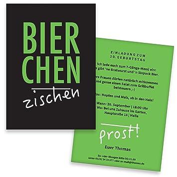 Einladungskarten Geburtstag Mannerrunde 20 Stuck Bier Prost