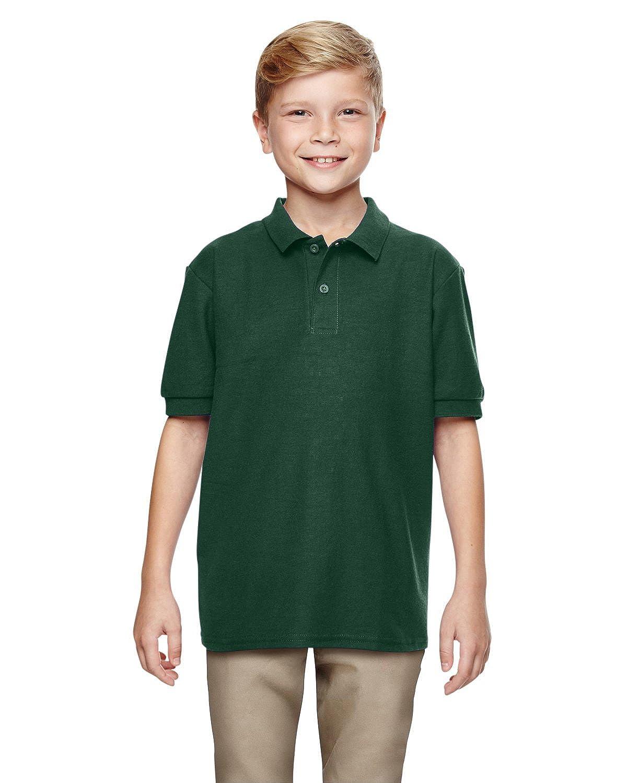 Double Piqu/é Sport Shirt G728B Gildan Boys DryBlend 6.3 oz FOREST GREEN S