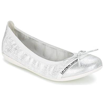 11aa033fd3cfe LPB Shoes Caprice Ballerines Babies Femmes Blanc Argenté Ballerines Babies