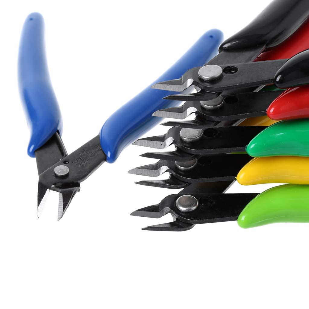 alicates afilados tijeras Juego de alicates el/éctricos herramienta de reparaci/ón de mano por JimTw-UK cortador de cable de alambre diagonal