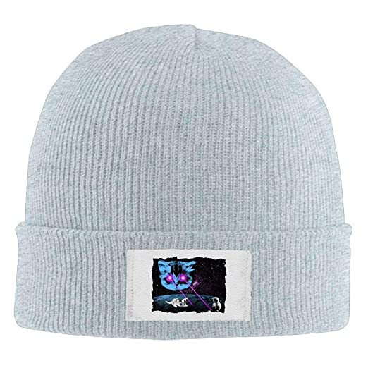 a9c1f990eda325 Amazon.com: Hallome Adult Hats Cataclysm Little Cat Galaxy Men Women Wool  Cap Cartoon Beanies Knitted Caps Warm Winter Hats: Clothing