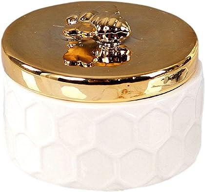 LIOOBO Caja de cerámica para Joyas, Anillos, Pulseras, Collares, Pendientes, Joyas, Platos, Bandeja de Almacenamiento: Amazon.es: Joyería