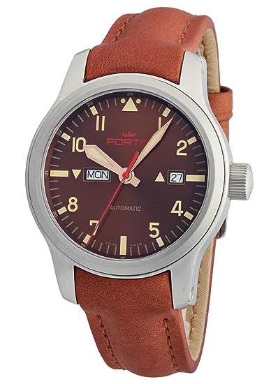 Fortis Hombre Reloj de pulsera aviatis Aero Master Dawn Fecha Día de la semana analógico automático