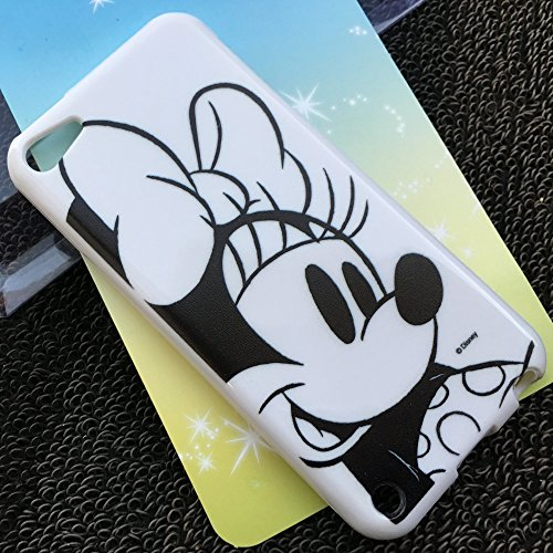 MobileCentral (Tm) iPod Touch 5 or 6 ; Black White Sketch Minnie Mouse Disney TPU Silicone Fitted Rubber Gel Case Cover for iPod 5th & 6th - Minnie Case For Ipod Mouse 5