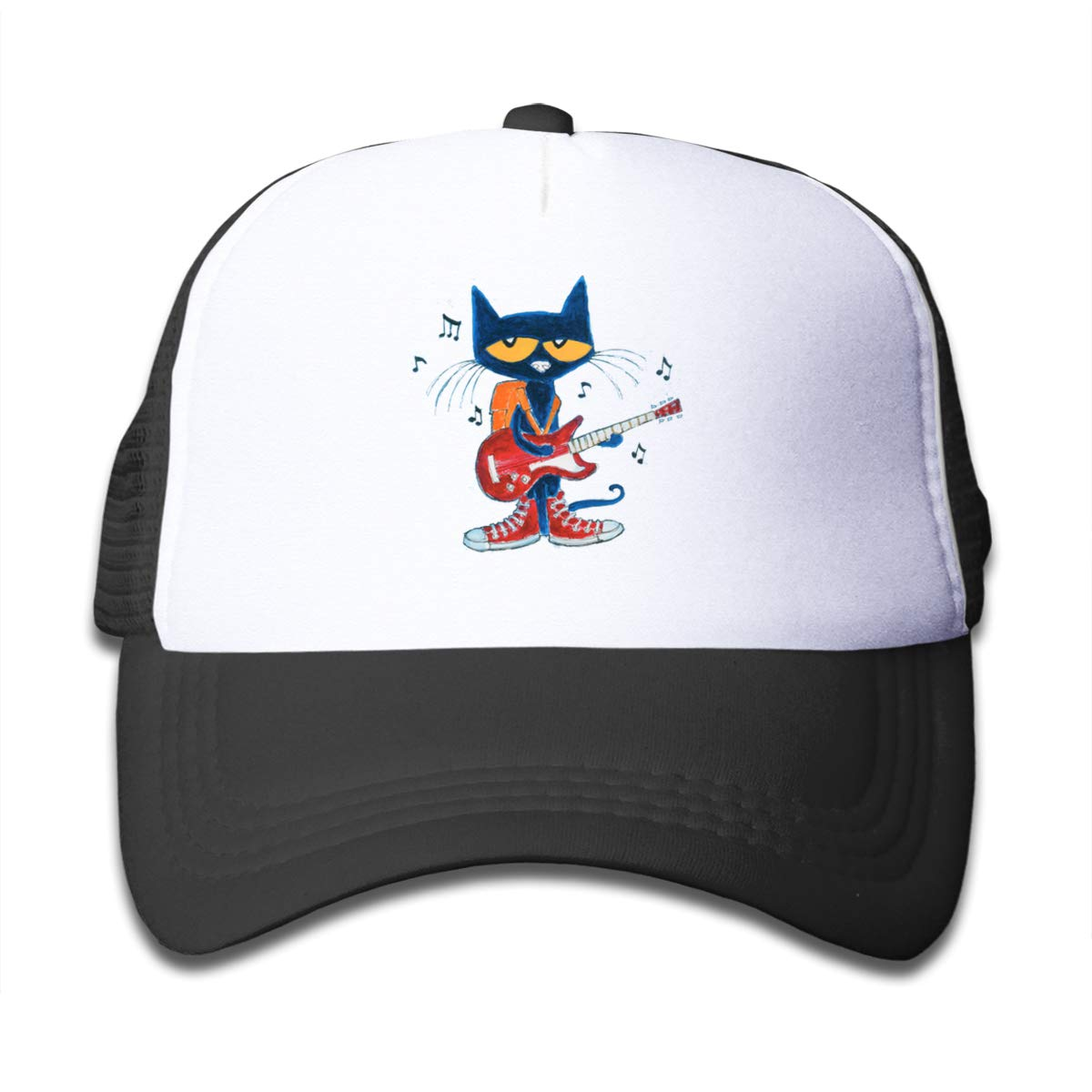 Lets Talk About PETE The Blue CAT Guitar Mesh Baseball Cap Kids Trucker Hats