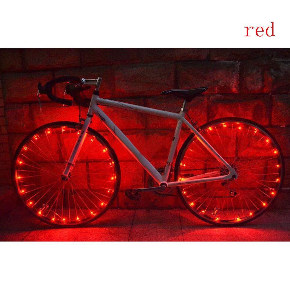 Glumes Bike Wheel String Lights, LED IP55 Waterproof Bicycle Spoke Light 20 LED Bicycle Rim Tire Lights for Mountain Bike/Road Bikes/BMX Bike/Hybrid Bike/Folding Bike Good Gift (Blue)