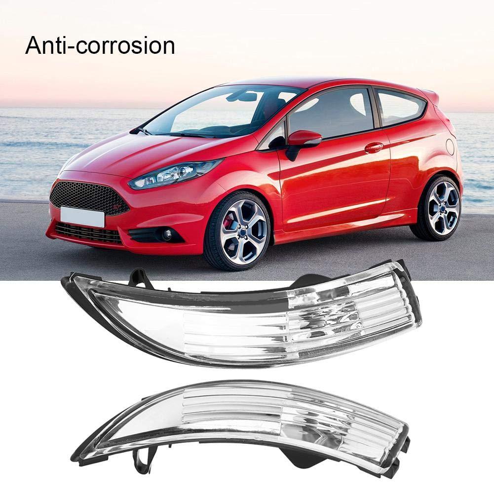 Indicatori di direzione 1 coppia di specchietti retrovisori per specchietto retrovisore alloggiamento guscio della lampada per Ford Fiesta 2009-2015.
