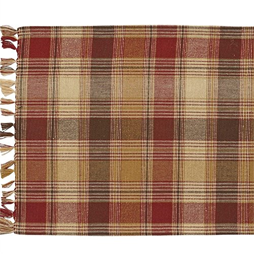 Park Designs Plaid Hearthside 13 Inches x 36 Inches Cotton Flat Woven Kitchen Linens -