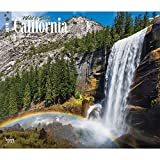 California, Wild & Scenic 2018 14 x 12 Inch Monthly Deluxe Wall Calendar, USA United States of America West Coast State Nature (Multilingual Edition)