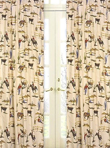 (Sweet Jojo Designs 2-Piece Wild West Cowboy and Horses Print Window Treatment Panels)